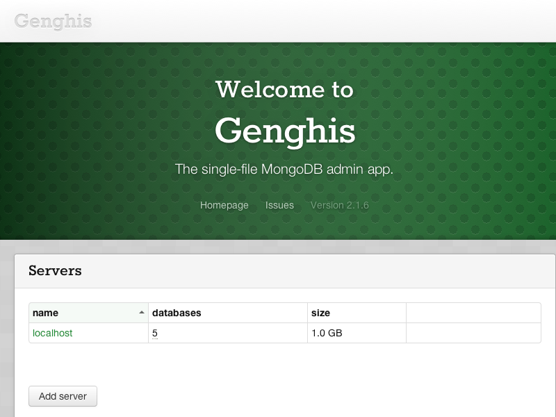 Genghis, the single-file MongoDB admin app.